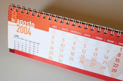 Diseño de calendario de mesa