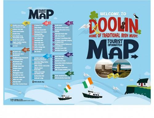 Diseño de mapa para folleto