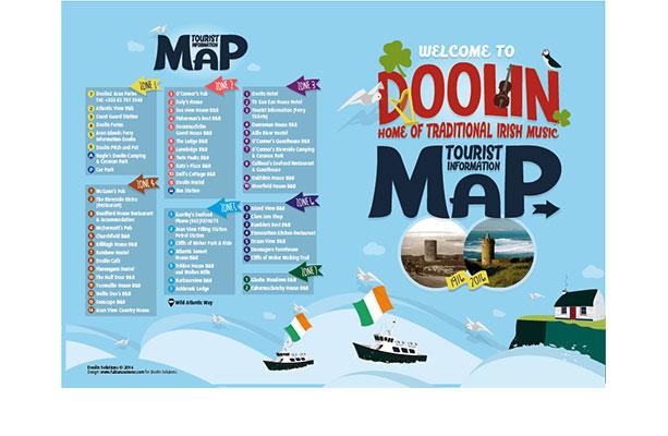 Diseño de folleto para pueblo turístico de Irlanda