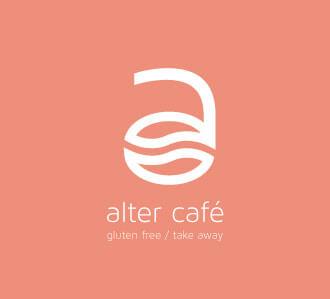 Logotipo vertical para café