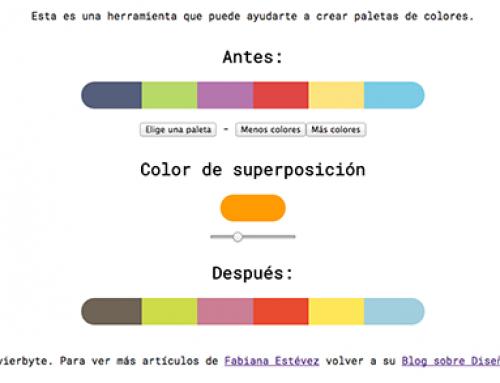 Herramienta para crear paletas de colores