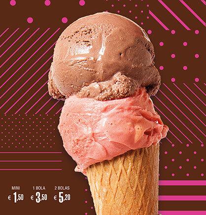 Diseño de cartel para heladería