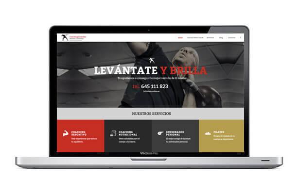 Diseño de página web para coacher