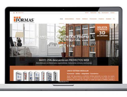Diseño de página web para fabricante de mobiliario