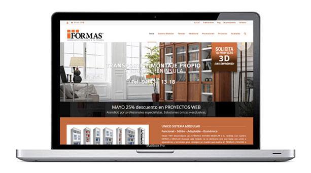 pagina web para fabricante de mobiliario