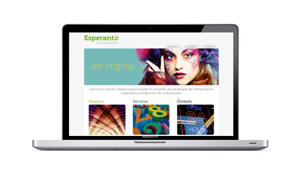 web para empresa de marketing