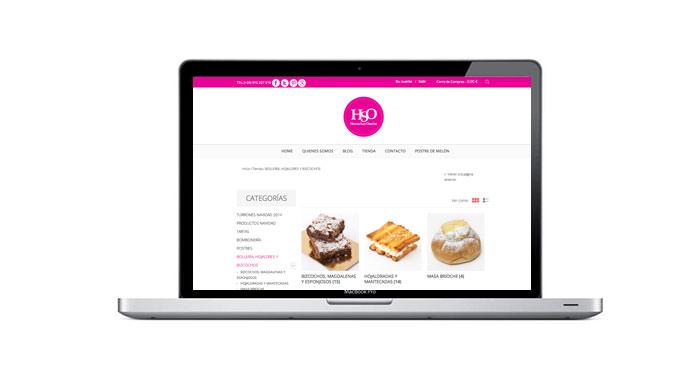 pagina web pastelería