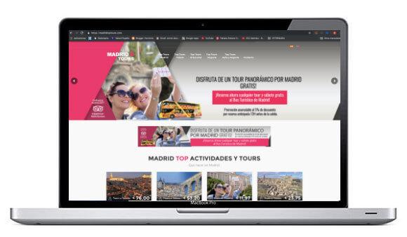 Diseño de páginas web para el turismo