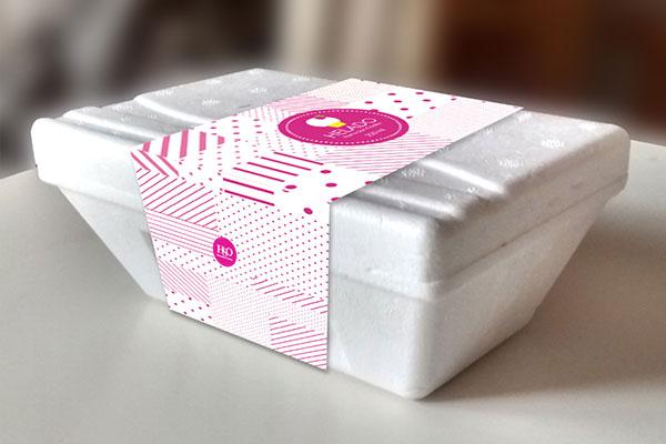Diseño de gráfica para envase helado