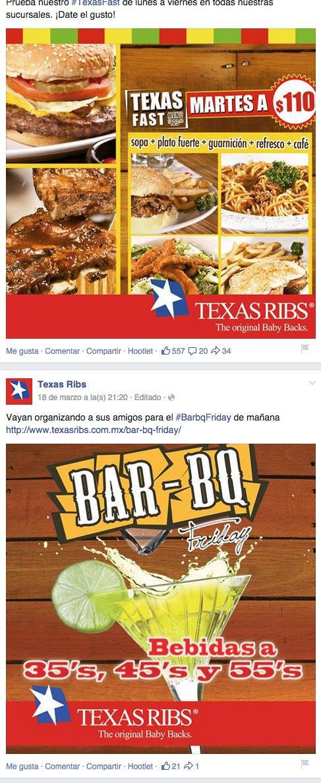El diseño y la página de empresa de facebook