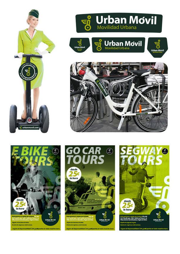 Diseño de logotipo para alquiler vehículos eléctricos