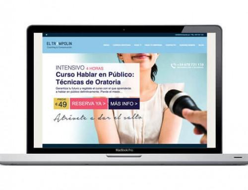 Diseño de página web para coacher de Madrid.