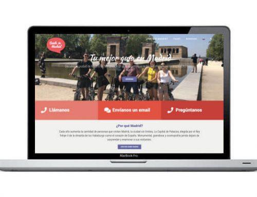 Diseño web para guía de Madrid