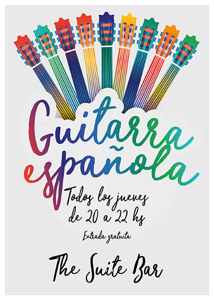 Diseño de cartel concierto de guitarra