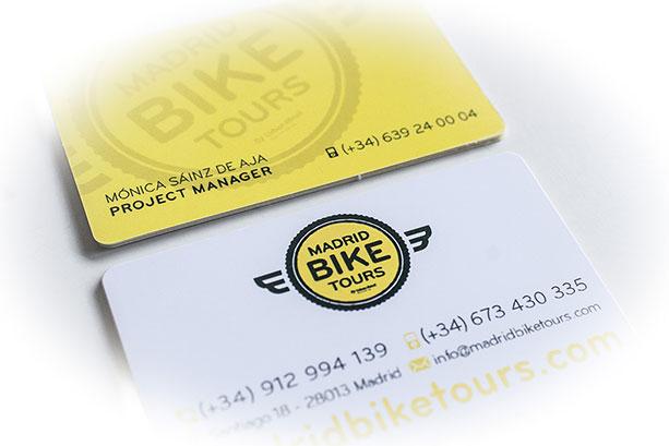Diseño de tarjetas empresa de bicicletas
