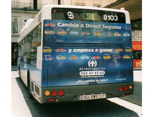 Diseño trasera autobús