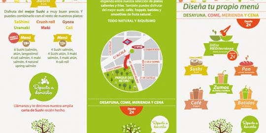 Diseño de tríptico con menu