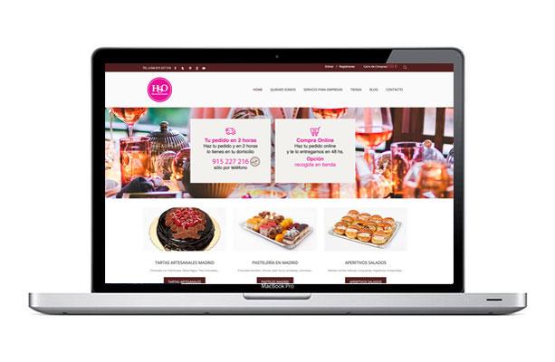 Diseño de página web para pastelería